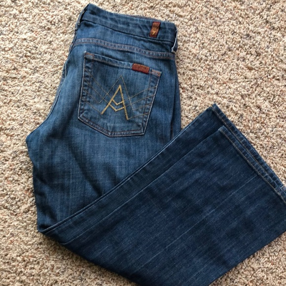 7 For All Mankind Denim - 7 for all mankind cropped jeans